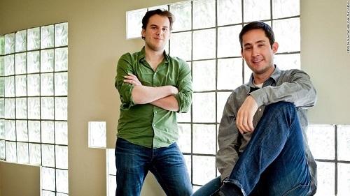 Bộ đôi sáng lập Instagram, Kevin Systrom và Mike Krieger. Ảnh: CNN.