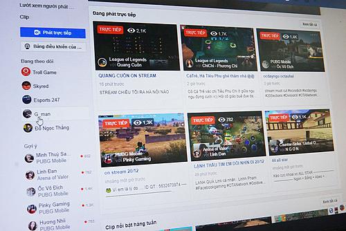 Mỗi video livestream chơi game và bình luận thu hút hàng ngàn lượt xem. Ảnh: Lưu Quý
