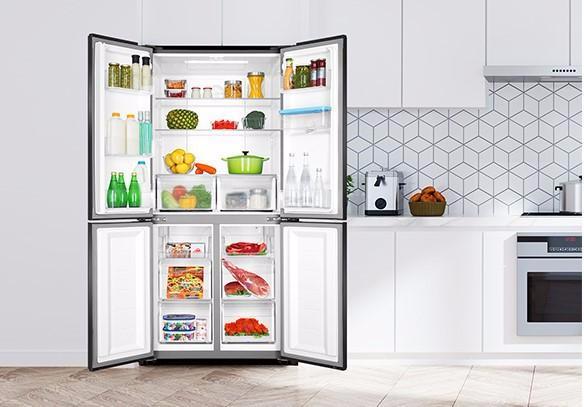 Tủ lạnh có thiết kế hài hòa với các không gian hiện đại, tối giản.