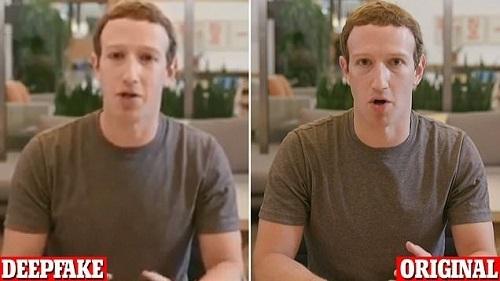 Năm ngoái, hai nghệ sĩ người Anh đã dùng AI do một công ty Isarel phát triển tạo ra đoạn video giả mạo CEO Facebook Mark Zuckerberg để cảnh báo về hậu quả của công nghệ này. Ảnh: CNN.