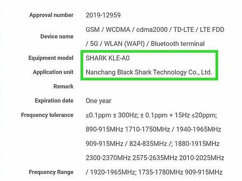 Thông tin về mẫu máy được cho là Black Shark 3 của Xiaomi.