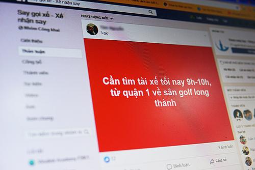Nhiều hội nhóm Facebook chuyên kết nối lái xe và dân nhậu.