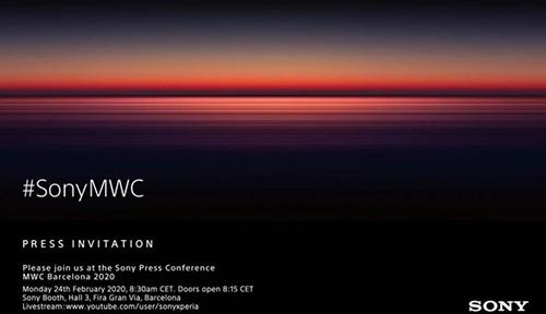 Thư mời sự kiện ra mắt sản phẩm mới tại MWC 2020 của Sony.
