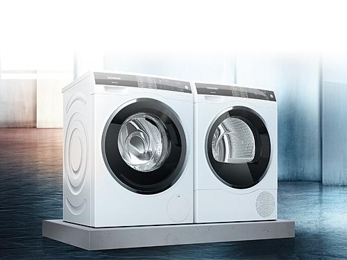 Máy sấy quần áo có kích thước và giá bán tương đương với máy giặt lồng ngang.