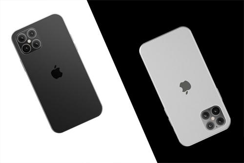 iPhone 12 được cho là có bốn camera mặt sau. Ảnh dựng: PhoneArena.
