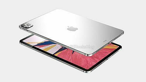 Hình dung về iPad Pro mới với cụm camera như ở iPhone 11 Pro. Ảnh: onleaks.