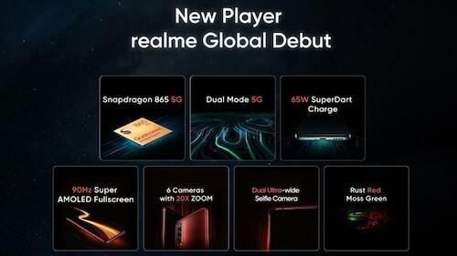 Smartphone mới của Realme được trang bị cấu hình khủng. Ảnh: GSMArena.