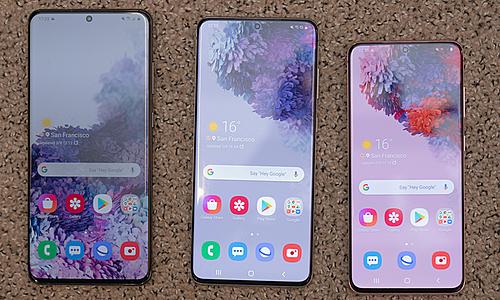 Samsung bánbộ ba Galaxy S20 tại Việt nam vào đầu tháng 3 tới. Ảnh: Huy Đức.