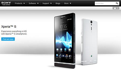 Trang web Sony Mobile từngđược đổi tên từ SonyEricsson, là nơi giới thiệu smartphone Sony hàng chục năm qua.