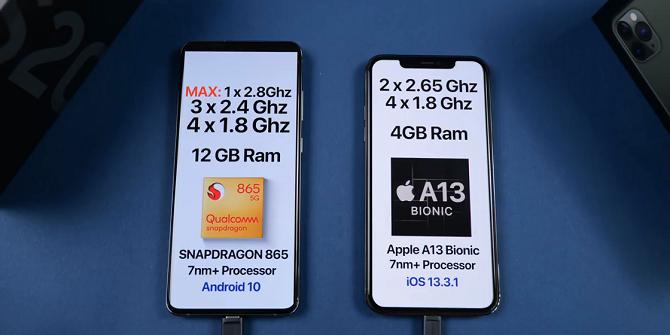 Dù sở hữu vi xử lý mạnh hơn, iPhone 11 Pro Max vẫn bị qua mặt trong bài thử đa nhiệm vì dung lượng RAM chỉ vỏn vẹn 4 GB. Ảnh: Everything Apple Pro.