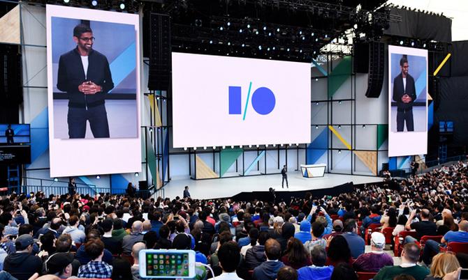 Google I/O, sự kiện lớn nhất năm của Google, đã bị hủy. Ảnh: AFP.