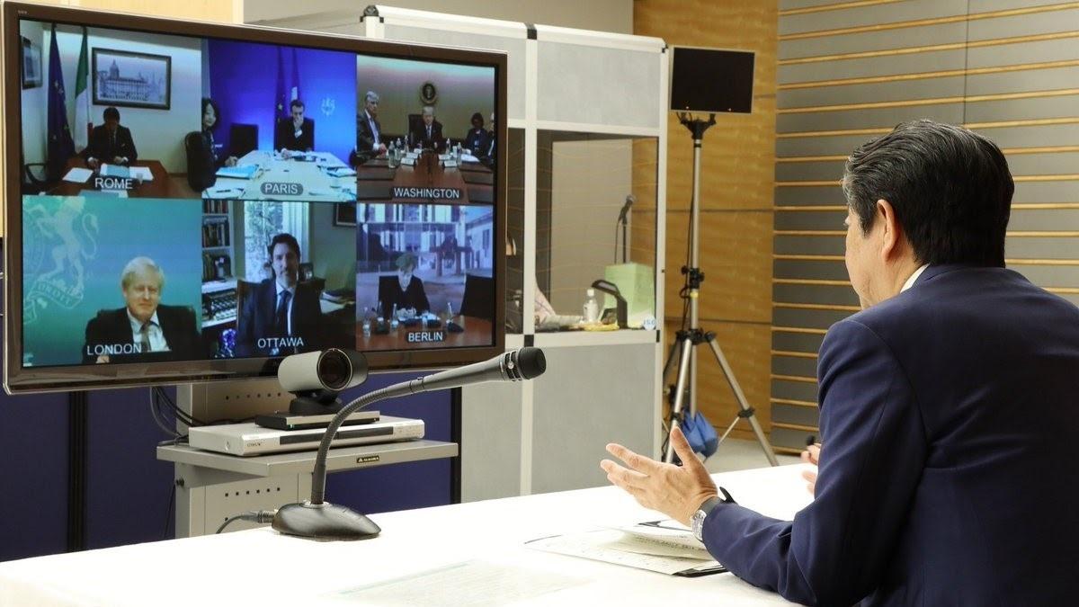 Cuộc họp giữa lãnh đạo các nước công nghệ phát triển (G7) vào đầu tuần cũng được chuyển sang tổ chức trực tuyến. Ảnh: Twitter Alvin Llum.