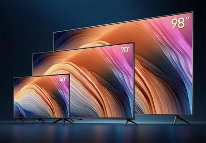Dòng Redmi TV của Xiaomi có ba kích thước là 40 inch, 70 inch và 98 inch.