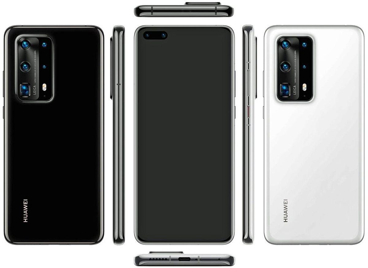 Huawei P40 Pro+ với cụm camera 5 ống kính, có ống kính zoom quang 10x.