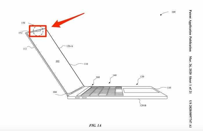 Vị trí đặt tai thỏ trên MacBook.