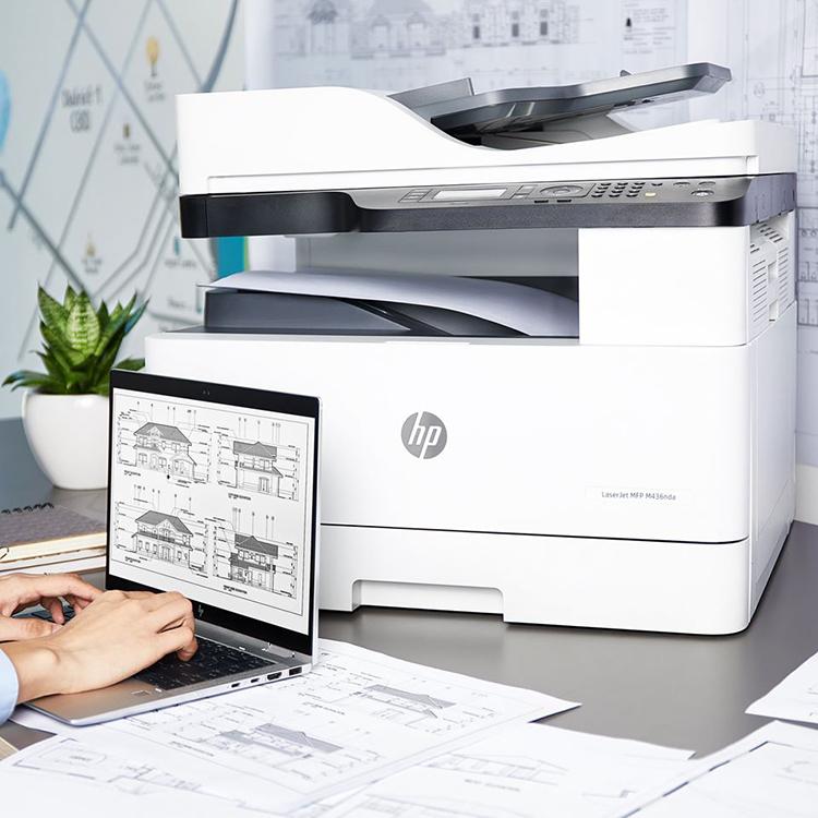In ấn dễ dàng với máy in LaserJet MFP M436DN và LaserJet MFP M436N.