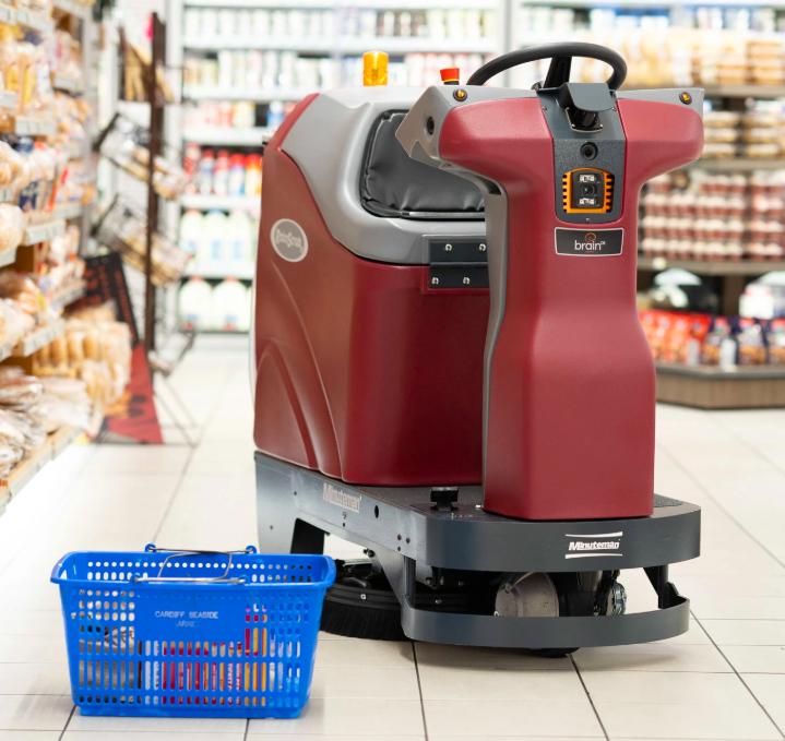 Robot lau sàn tự động tại siêu thịGiant Eagle. Ảnh: NYT.