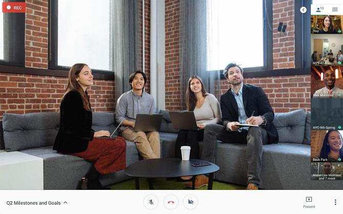 Google Hangout Meets. Ảnh: Google.