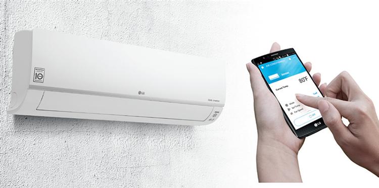 Thêm một ưu điểm của dòng máy điều hòa thanh lọc không khí đến từ LG là có thể điều khiển qua ứng dụng ThinQ trên điện thoại thông minh.