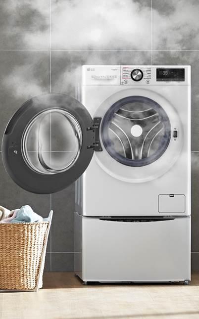 Máy giặt LG giúp diệt khuẩn quần áo hiệu quả nhờ công nghệ Steam.