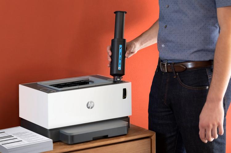 HP Laser Neverstop với bộ tiếp mực độc đáo.