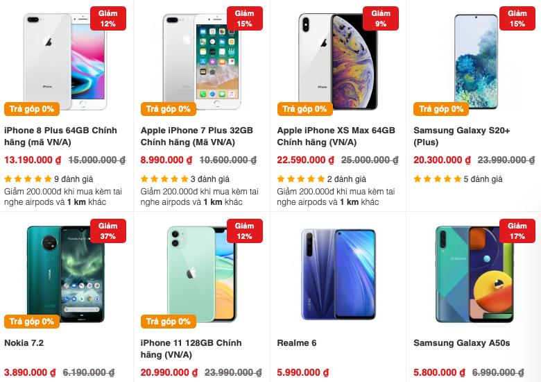 Thông tin giảm giá tràn ngập trên các website mua bán điện thoại, cả model cao cấp, mới ra mắt lẫn máy tầm trung, giá rẻ.