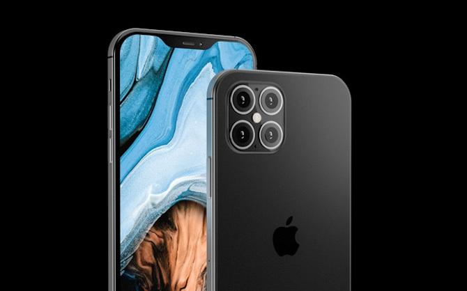 Một ảnh dựng iPhone 12 với các cạnh phẳng giống iPhone 5 thay vì bo tròn như hiện nay.