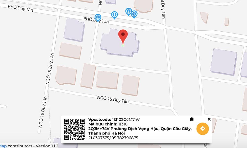 Thay vì gửi địa chỉ, người dùng có thể gửi Vpostcode để đơn vị giao nhận nắm được vị trí.