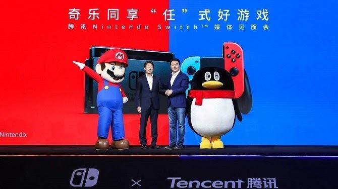 Nintendo hợp tác cùng Tencent để phân phối Switch tại Trung Quốc. Ảnh: Nintendo.