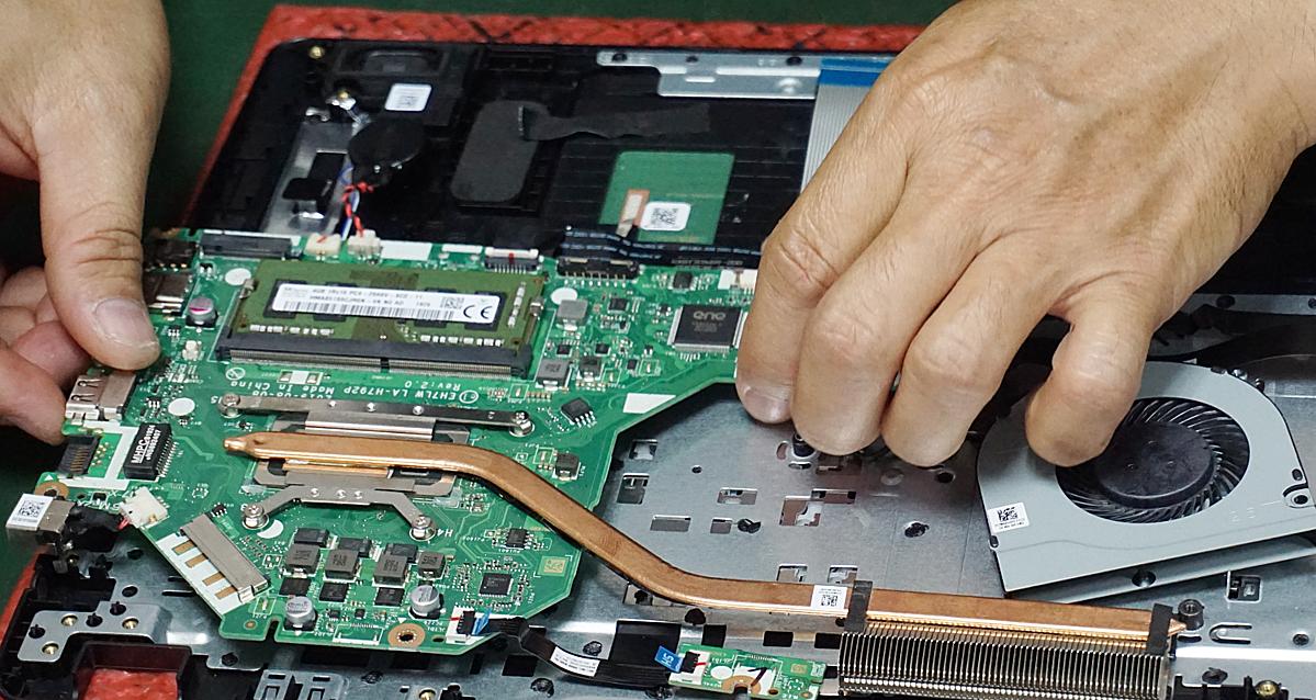 Acer chủ động linh kiệndự phòng để đảm bảo phục vụ bảo hành chokhách hàng. Ảnh: Hiền Trang.