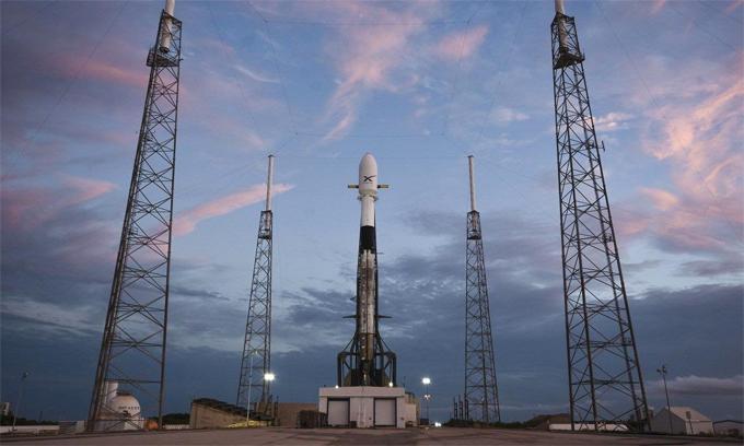 Tên lửa SpaceX đưa 6 vệ tinh lên quỹ đạo tháng 5/2019. Ảnh: SpaceX.