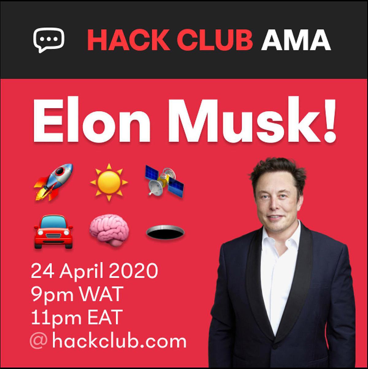 Elon Musk tham gia vào chương trình hỏi đáp với các thành viên của Hack Club vào tháng trước.