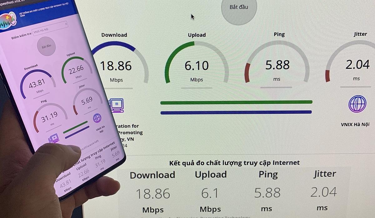 Sau sự cố đứt cáp APG, ốc độ mạng Internet tại một số gia đình bị ảnh hưởng, tốc độ chậm hơn nhiều ngày thường, thấp hơn nhiều mạng 4G.