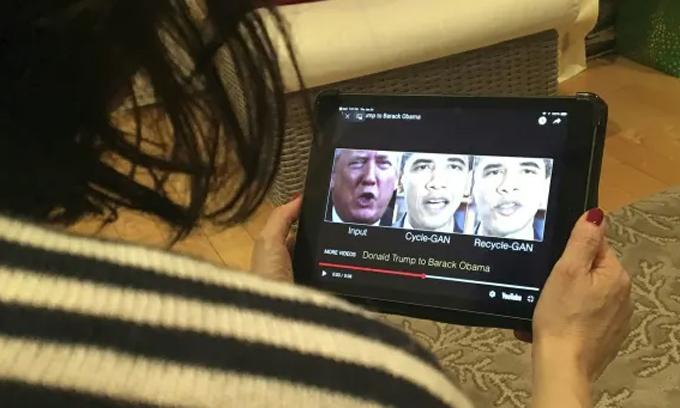 Thuật toán GAN giúp tạo ra những hình ảnh deepfake, không chỉ mang tính đùa vui mà còn có thể gây bất ổn chính trị. Ảnh: AFP.