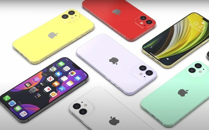 Một thiết kế concept về iPhone 12 với khung viền làm theo kiểu iPad Pro. Ảnh: GSM Arena.