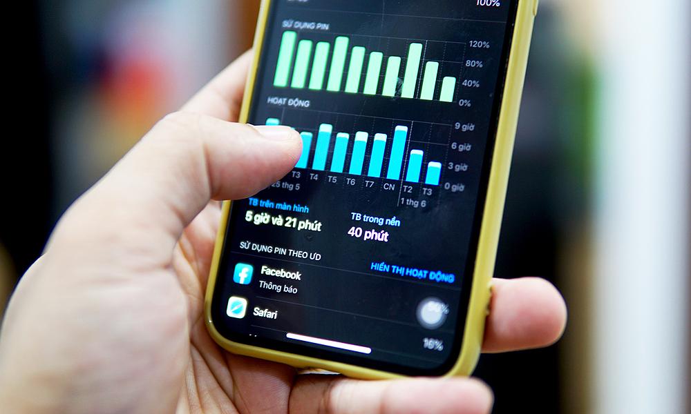 Nhiều thiết bị gặp hiện tượng pin nhanh hết sau khi cập nhật iOS 13.5. Ảnh: Lưu Quý
