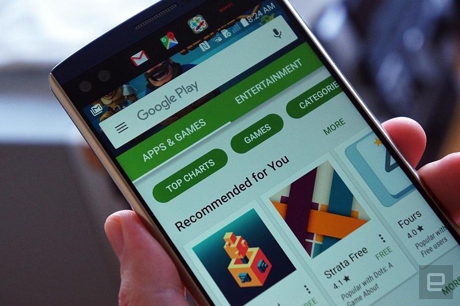 Các ứng dụng chứa mã độc ẩn giấu dưới lớp phần mềm chụp ảnh selfie, làm đẹp chân dung trên Play Store. Ảnh: Engadget.