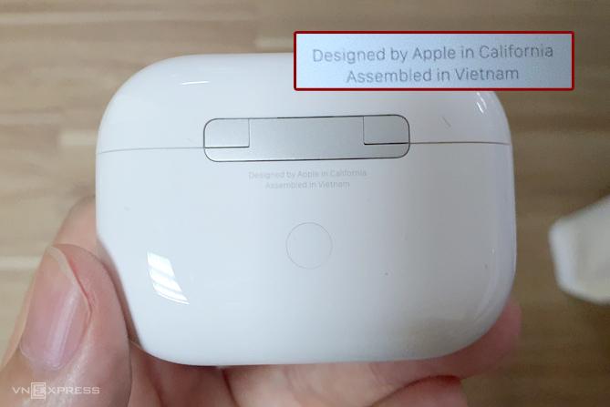 Airpods ProAssembled in Vietnam đã xuất hiện trên thế giới từ tháng 5. Ảnh: Nguyễn Huy