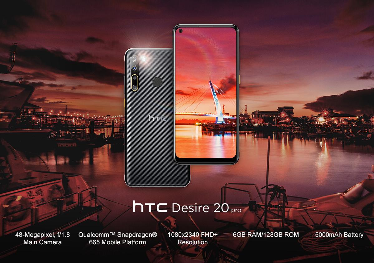 HTC Desire 20 Pro.