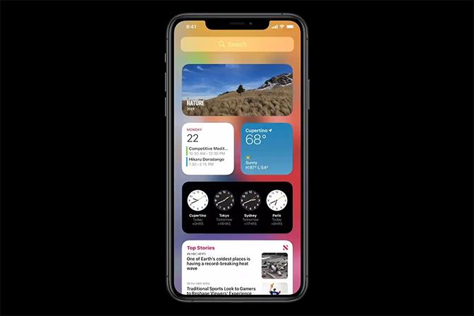 Hệ thống widget trên iOS ngày càng giống Android.