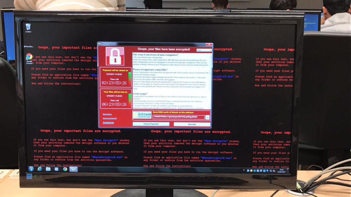 Ransomware có tên WannaCry mã hoá máy tính để đòi tiền chuộc, từng khiến10.000 tổ chức, 200.000 cá nhânở 150 quốc gia bị ảnh hưởng chỉ sau 2 ngày.