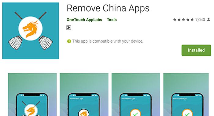 Ứng dụng có tên Remove China Apps trên Android nhận hàng triệu lượt tải trong ít ngày, nhưng bị cho là vi phạm điều khoản của Google.
