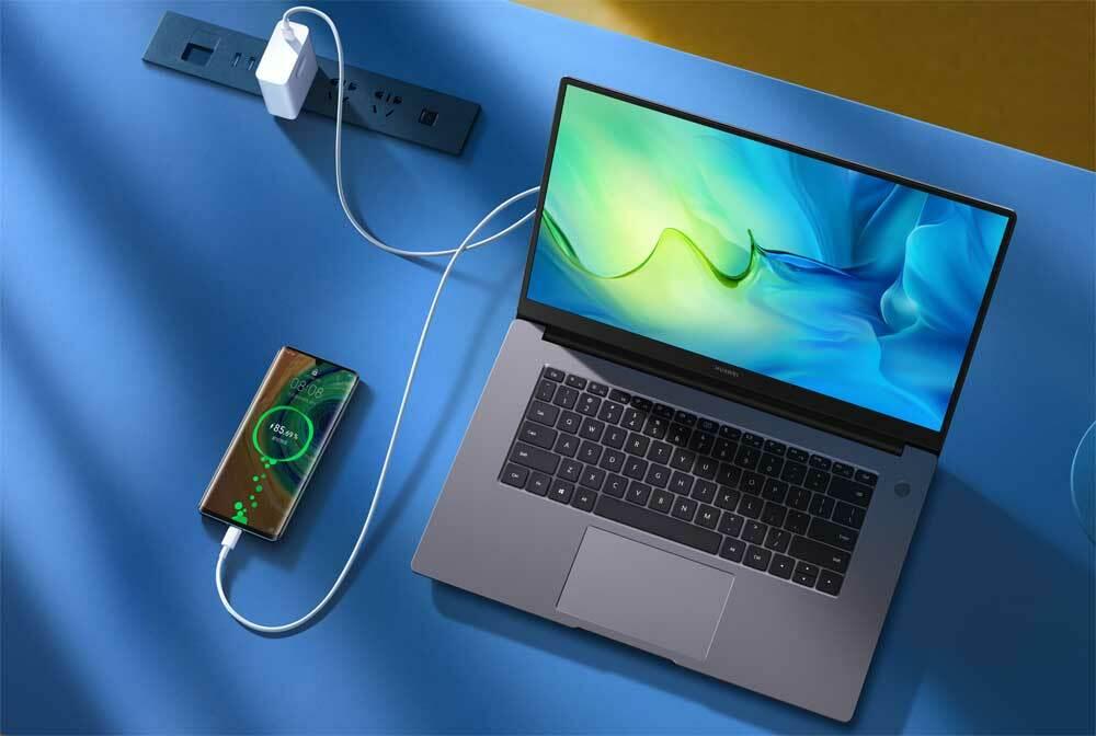 Matebook D15 của Huawei có màn hình 15,6 inch, giá 15,6 triệu đồng.