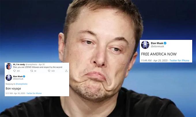 Elon Musk có nhiều phát ngôn ngẫu hứng trên Twitter. Ảnh: Reuters.