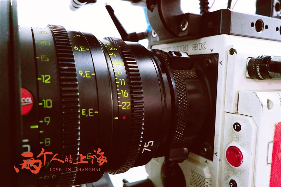Mẫu máy quay 8K được dùng để ghi hình cho Love in Shanghai. Ảnh: Shine