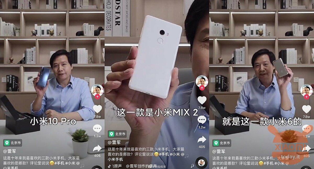 Ba chiếc điện thoại được chủ tịch kiêm CEO Xiaomi đưa vào danh sách yêu thích.