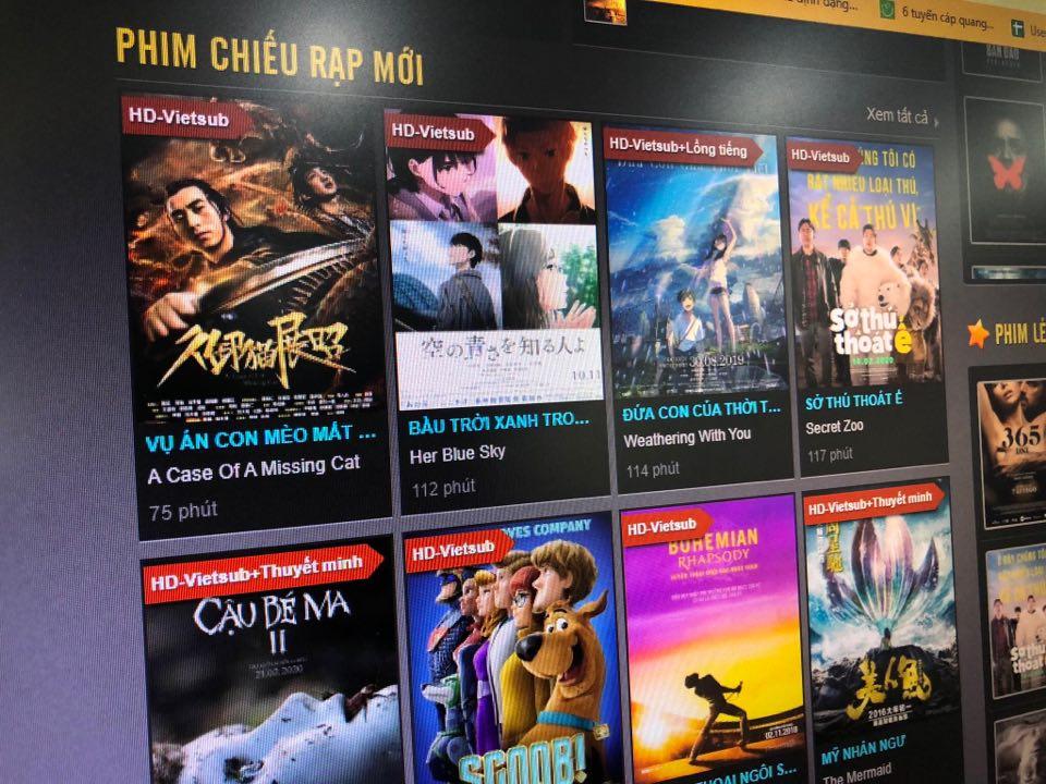 Web phim lậu chứa hàng ngàn bộ phim không có bản quyền, trải nghiệm xem phim kém.