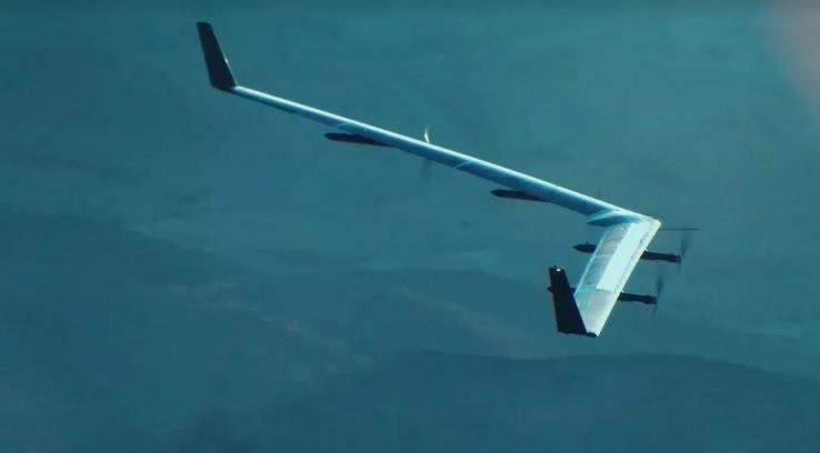 Facebook từng phát triển thiết bị bay không người lái dùng pin mặt trời để phát tín hiệu Internet. Ảnh: Facebook.