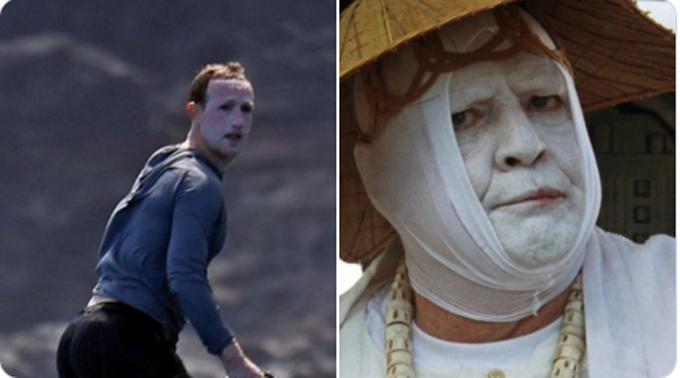 Một số thành viên Twitter cho rằng khuôn mặt của Zuckerberg và Tiến sĩ Moreau trong phim The Island of Dr.Moreau rất giống nhau.