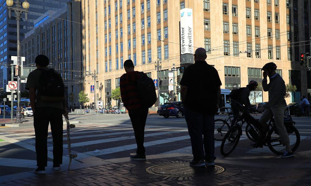 Trụ sở Twitter tại thành phố San Francisco. Ảnh: New York Times.